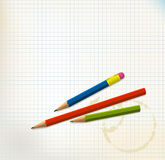 Paper with pencils Stock Photos