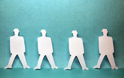 Paper people Stock Photos