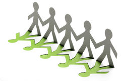 Paper people. In teamworking concept Stock Image