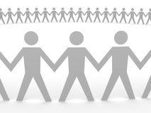 Paper People - Big Team Stock Image