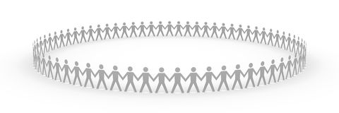 Paper People - Big Team Royalty Free Stock Images