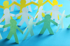 Paper people Royalty Free Stock Photos