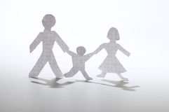 Paper people chain Royalty Free Stock Photos
