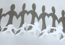Paper people chain Royalty Free Stock Image