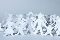 Paper people chain Royalty Free Stock Photo