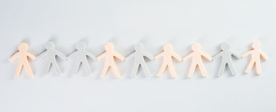 Paper people chain Stock Photography