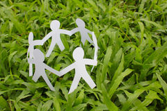 Paper people in a circle. Stock Image