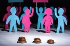 people strike for salary increases royalty free stock images