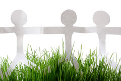 Paper People Grass Royalty Free Stock Images