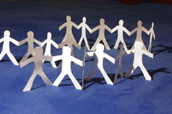 Paper people having a party Stock Images