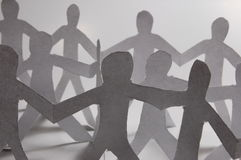 Paper people having a party Royalty Free Stock Photos