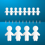 Paper People Holding Hands Stock Images