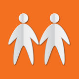 Paper People icon Royalty Free Stock Images