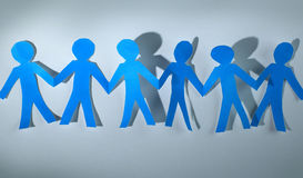paper people over white background Royalty Free Stock Photos