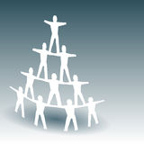 Paper People Pyramid Royalty Free Stock Photos