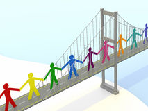 Paper People, Suspension Bridge Walkways Stock Images