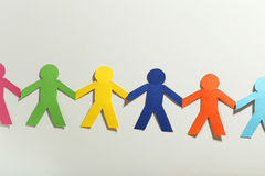 Paper people. On the white background Royalty Free Stock Image