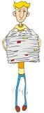 paper person för håll mycket Arkivbild