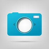 Paper photo camera. Element for web design. photo camera royalty free illustration