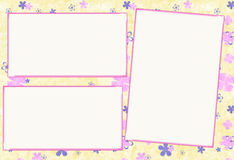 Paper photo frame Stock Images