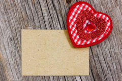 Paper piece  and red heart Stock Photo