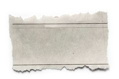Paper piece. Piece of torn paper on plain background. Copy space Royalty Free Stock Image