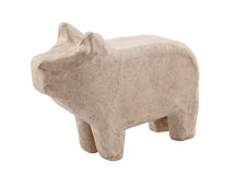 Paper pig isolated on white Stock Photos