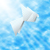Paper pigeon - symbol of peace Stock Images