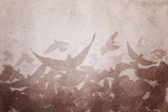Paper pigeons Royalty Free Stock Images