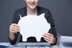 Paper piggy bank Stock Images