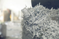 Paper piled and baled and ready to recycle Royalty Free Stock Photography