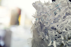 Paper piled and baled and ready to recycle Royalty Free Stock Image