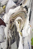 Paper piled and baled and ready to recycle Royalty Free Stock Images