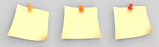 Paper with pin Royalty Free Stock Photos
