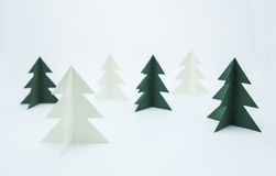 Paper pines Stock Photo