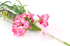 Paper pink decorative flowers Stock Photo
