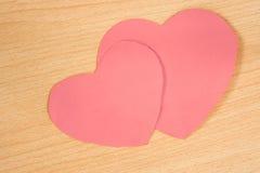 paper pink för hjärta Royaltyfri Bild