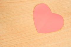 paper pink för hjärta Fotografering för Bildbyråer