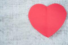 paper pink för hjärta Arkivfoton