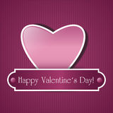 Paper pink heart Stock Image