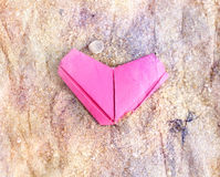 Paper pink heart Stock Photo