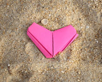 Paper pink heart Royalty Free Stock Photo