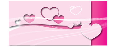 Paper pink heart. Vector illustration stock illustration