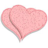 Paper pink hearts Royalty Free Stock Image