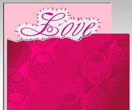Paper and pink paper cover Royalty Free Stock Photos