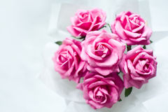 Paper pink roses Royalty Free Stock Photo
