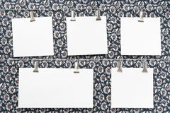paper pinnor för kortkläder Royaltyfri Fotografi