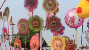 Paper pinwheel stock video