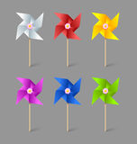 Paper pinwheels Stock Photos