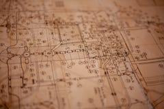 A paper plan stock photo